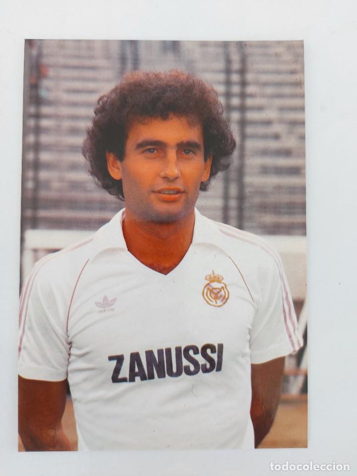 ANTIGUA POSTAL DE GALLEGO JUGADOR DEL REAL MADRID - 1982 - PUBLICIDAD DE ZANUSSI EN LA CAMISETA - FO (Coleccionismo Deportivo - Postales de Deportes - Fútbol)