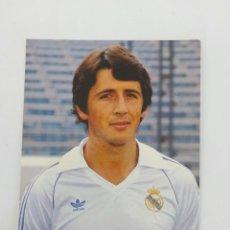 Coleccionismo deportivo: ANTIGUA POSTAL DE SALGUERO JUGADOR DEL REAL MADRID - 1982 - PUBLICIDAD DE ZANUSSI EN LA CAMISETA - F. Lote 252854600