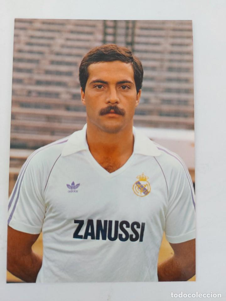 ANTIGUA POSTAL DE SAN JOSÉ JUGADOR DEL REAL MADRID - 1982 - PUBLICIDAD DE ZANUSSI EN LA CAMISETA - F (Coleccionismo Deportivo - Postales de Deportes - Fútbol)