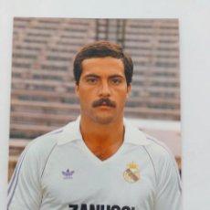 Coleccionismo deportivo: ANTIGUA POSTAL DE SAN JOSÉ JUGADOR DEL REAL MADRID - 1982 - PUBLICIDAD DE ZANUSSI EN LA CAMISETA - F. Lote 252854815