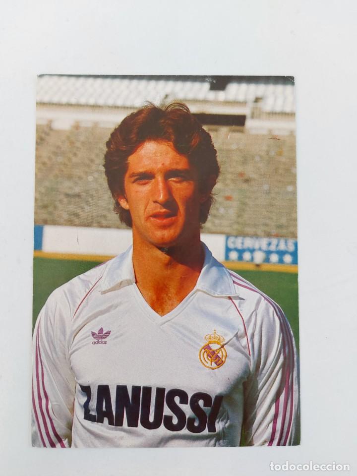 ANTIGUA POSTAL DE CHENDO JUGADOR DEL REAL MADRID - 1982 - PUBLICIDAD DE ZANUSSI EN LA CAMISETA - FOT (Coleccionismo Deportivo - Postales de Deportes - Fútbol)