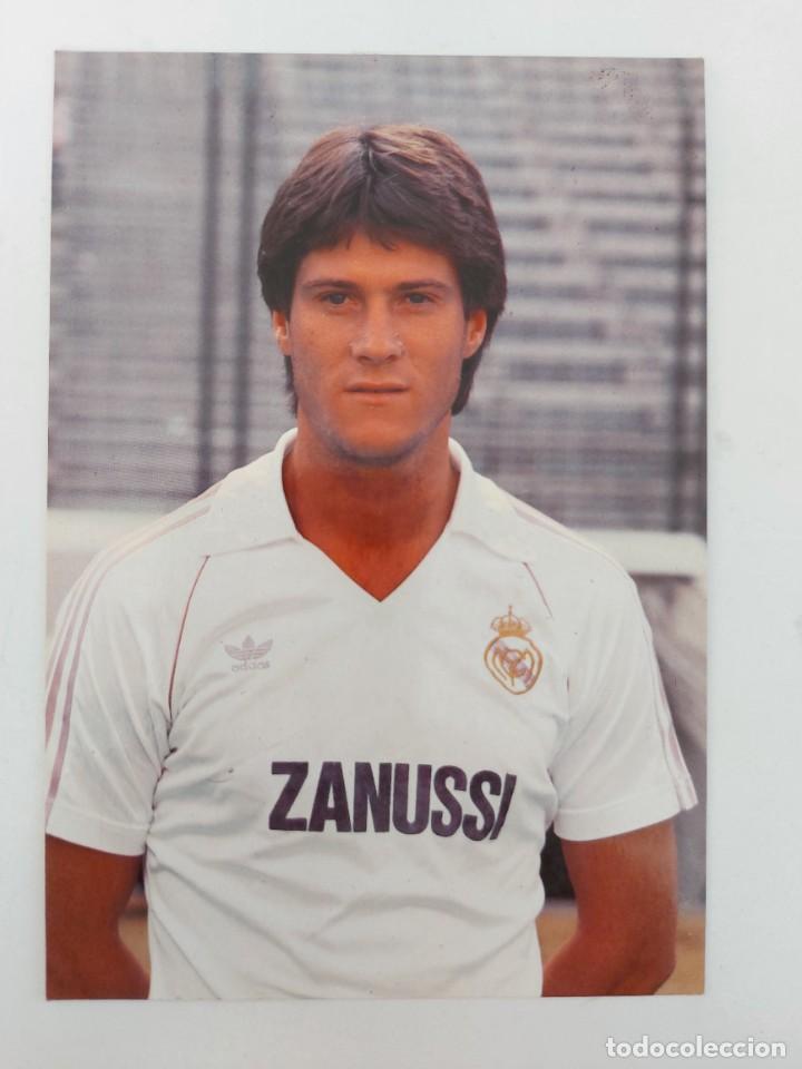 ANTIGUA POSTAL DE BONET JUGADOR DEL REAL MADRID - 1982 - PUBLICIDAD DE ZANUSSI EN LA CAMISETA - FOTO (Coleccionismo Deportivo - Postales de Deportes - Fútbol)