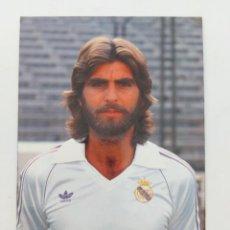 Coleccionismo deportivo: ANTIGUA POSTAL DE JUAN JOSÉ JUGADOR DEL REAL MADRID - 1982 - PUBLICIDAD DE ZANUSSI EN LA CAMISETA -. Lote 252855090