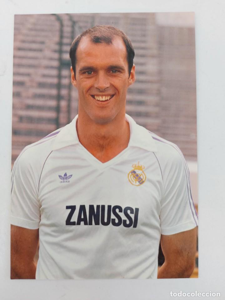 ANTIGUA POSTAL DE METGOD JUGADOR DEL REAL MADRID - 1982 - PUBLICIDAD DE ZANUSSI EN LA CAMISETA - FOT (Coleccionismo Deportivo - Postales de Deportes - Fútbol)