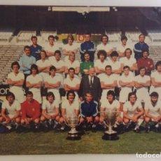 Coleccionismo deportivo: POSTAL REAL MADRID C.DE F. - PLANTILLA TEMPORADA 1975 - 76 - 21 X 14.5 CM **BERGAS IND GRAFICAS**. Lote 253087425