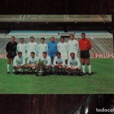 Coleccionismo deportivo: FOTO POSTAL DEL REAL MADRID CLUB DE FUTBOL, CAMPEON DE LA LIGA TEMPORADA 1968 / 69, FOTOCOLOR LARA,. Lote 253248715