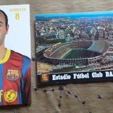 Coleccionismo deportivo: FUTBOL-V79-F.C.BARCELONA-A.INIESTA-ESTADIO F.C.BARCELONA. Lote 253635250