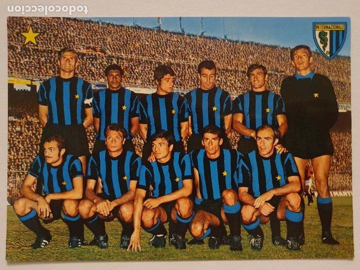 EQUIPO DEL INTER DE MILÁN - F.C. INTERNAZIONALE - P49828 (Coleccionismo Deportivo - Postales de Deportes - Fútbol)