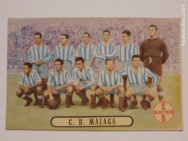 EQUIPO DEL CLUB DEPORTIVO MÁLAGA - PUBLICIDAD BAYER - P49830 (Coleccionismo Deportivo - Postales de Deportes - Fútbol)