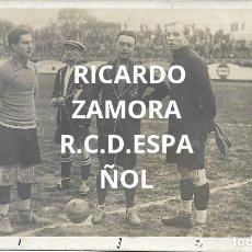 Coleccionismo deportivo: (F-210410)POSTAL FOTOGRAFICA RICARDO ZAMORA R.C.D.ESPAÑOL,1-U.D.SANS,1 - 29-1-1928. Lote 256027890