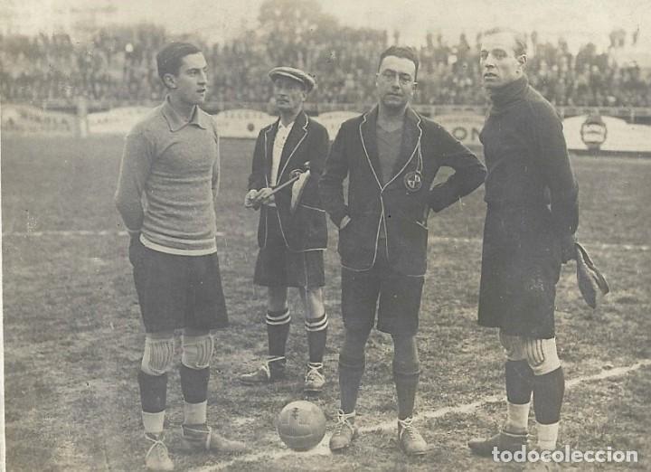 Coleccionismo deportivo: (F-210410)POSTAL FOTOGRAFICA RICARDO ZAMORA R.C.D.ESPAÑOL,1-U.D.SANS,1 - 29-1-1928 - Foto 2 - 256027890