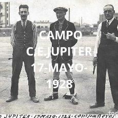 Coleccionismo deportivo: (F-210411)POSTAL FOTOGRAFICA CAMPO DEL C.E.JUPITER 17-5-1928 PARTIDO EQUIPO AGUAS DE BARCELONA. Lote 256028935