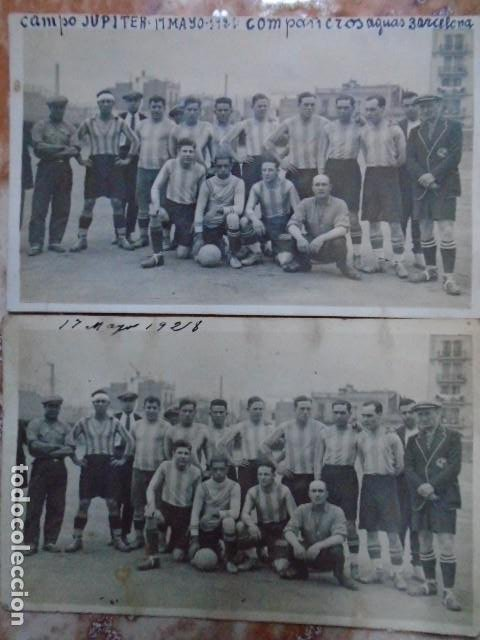 Coleccionismo deportivo: (F-210412)LOTE DE 2 POSTALES FOTOGRAFIAS CAMPO C.E.JUPITER EQUIPO FOOT-BALL AGUAS DE BARCELONA - Foto 4 - 256029560