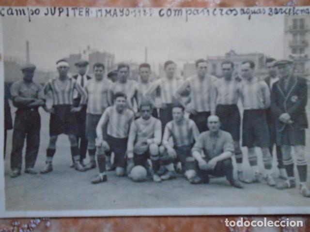 Coleccionismo deportivo: (F-210412)LOTE DE 2 POSTALES FOTOGRAFIAS CAMPO C.E.JUPITER EQUIPO FOOT-BALL AGUAS DE BARCELONA - Foto 5 - 256029560