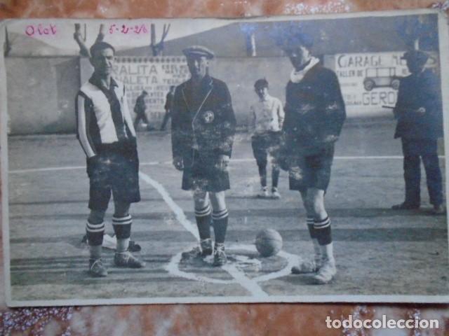 Coleccionismo deportivo: (F-210413)POSTAL FOTOGRAFICA PARTIDO OLOT,1-PALAFRUGELL,3 FOOT-BALL 5-2-1928 - Foto 2 - 256030205