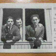 Colecionismo desportivo: FUTBOLISTAS ALCANTARA Y ZAMORA, FUTBOL F.C. BARCELONA. LLEGADA DE SAN MAMES.. Lote 257648610