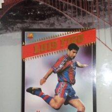 Colecionismo desportivo: FIGO BARCELONA SPORT POSTALES GIGANTES 97 98 FUTBOL LIGA 1997 1998. Lote 257955305