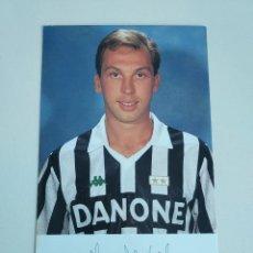 Coleccionismo deportivo: POSTAL OFICIAL DAVID PLATT JUVENTUS F.C. AÑOS 90. Lote 289658868