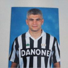 Coleccionismo deportivo: POSTAL OFICIAL FABRIZIO RAVANELLI JUVENTUS F.C. AÑOS 90. Lote 289658808