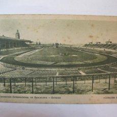 Coleccionismo deportivo: BARCELONA-EXPOSICION INTERNACIONAL-ESTADIO-CAMPO FUTBOL-PUBLICIDAD ZUMO UVA MOSTELLE-(80.022). Lote 258760135
