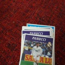Coleccionismo deportivo: PANUCCI 2 REAL MADRID PANINI 97 98 1997 1998 SIN PEGAR. Lote 258805875