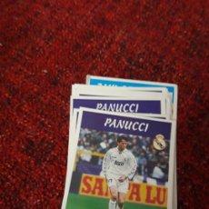 Coleccionismo deportivo: PANUCCI 2 REAL MADRID PANINI 97 98 1997 1998 SIN PEGAR. Lote 258805890
