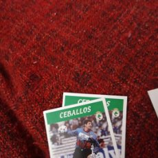 Coleccionismo deportivo: RACING DE SANTANDER 193 CEBALLOS PANINI 97 98 1997 1998 SIN PEGAR. Lote 258808290