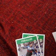 Coleccionismo deportivo: RACING DE SANTANDER 193 CEBALLOS PANINI 97 98 1997 1998 SIN PEGAR. Lote 258808305