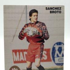 Colecionismo desportivo: POSTAL SÁNCHEZ BROTO REAL ZARAGOZA VILLAREAL PORTERO PROMOCIONAL GUANTES REUSCH. Lote 261555365