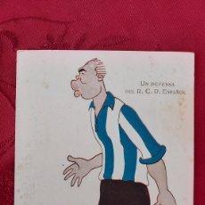 Coleccionismo deportivo: POSTAL UN DEFENSA DEL R.C.D. ESPAÑOL NUM.1093 PASSARELL EDICIONES VICTORIA. AÑOS 20. Lote 261790505