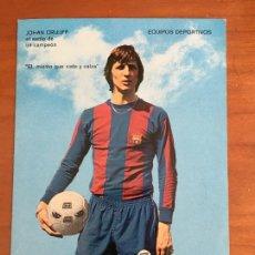 Colecionismo desportivo: JOHAN CRUYFF BARCELONA FUTBOL POSTAL PUBLICITARIA ORIGINAL EQUIPOS DEPORTIVOS. Lote 261835210