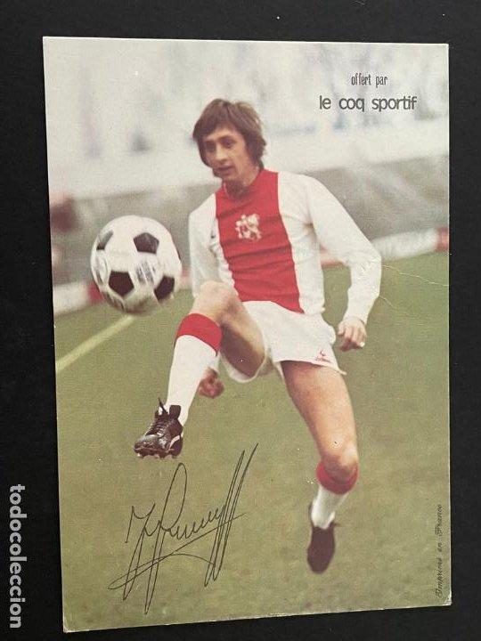 TARJETA POSTAL DE JOHAN CRUYFF (AJAX) PUBLICIDAD LE COQ SPORTIF (Coleccionismo Deportivo - Postales de Deportes - Fútbol)
