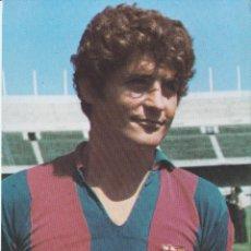 Collezionismo sportivo: POSTAL FICHA TÉCNICA NARCISO MARTI FILOSIA FC BARCELONA 1973 PUBLICIDAD WILLIAMS. Lote 262921265