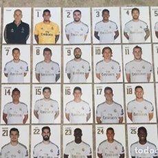 Coleccionismo deportivo: COLECCIÓN OFICIAL COMPLETA 28 POSTALES REAL MADRID 2019-2020. Lote 263130585