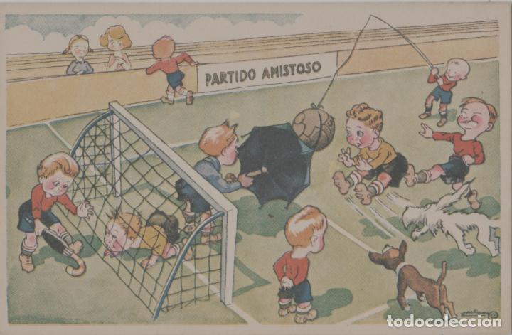 LOTE B-POSTAL TEMA FUFBOL AÑOS 40 (Coleccionismo Deportivo - Postales de Deportes - Fútbol)