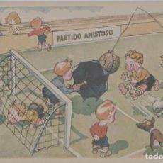 Coleccionismo deportivo: LOTE B-POSTAL TEMA FUFBOL AÑOS 40. Lote 265348179