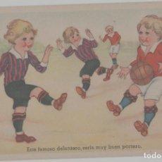 Coleccionismo deportivo: LOTE B-POSTAL TEMA FUFBOL AÑOS 40. Lote 265348264