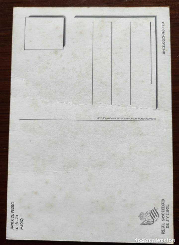 Coleccionismo deportivo: TARJETA POSTAL JAVIER DE PEDRO - REAL SOCIEDAD FUTBOL - Foto 2 - 265496414