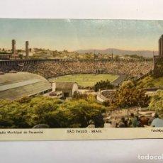 Coleccionismo deportivo: FÚTBOL. POSTAL ESTADIO MUNICIPAL DO PACAEMBU SAO PAULO (BRASIL) FOTOLABOR 107. Lote 265818619