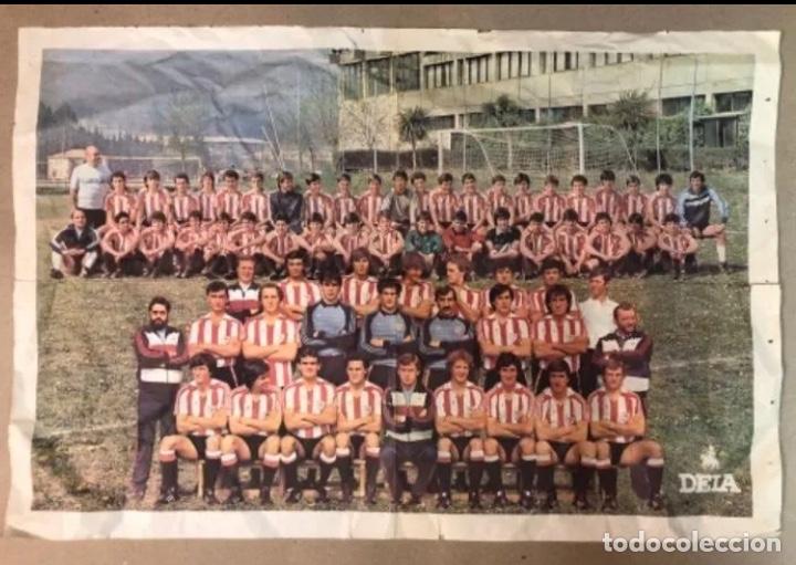 ATHLETIC CLUB 1984. POSTER PERIÓDICO DEIA DEL 1ª EQUIPO JUNTO CON BILBAO ATHLETIC (LEZAMA). (Coleccionismo Deportivo - Postales de Deportes - Fútbol)