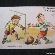 Coleccionismo deportivo: FUTBOL-NIÑOS JUGANDO-POSTAL ANTIGUA-(81.525). Lote 268446559