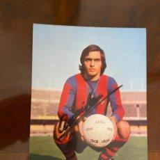 Coleccionismo deportivo: AMARILLO BARCELONA POSTAL FIRMADA POR EL JUGADOR. Lote 268455039