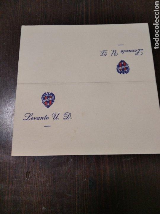 TARJETA LEVANTE UD (Coleccionismo Deportivo - Postales de Deportes - Fútbol)