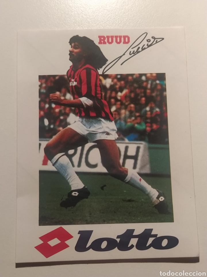 Coleccionismo deportivo: GULLIT Milan Lotto Publicidad - Foto 2 - 269012619