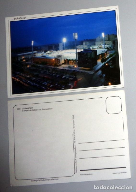 POSTAL ANTIGUA - ZARAGOZA. FÚTBOL ESTADIO LA ROMAREDA REAL ZARAGOZA PARTIDO MATCH DAY. SIN CIRCULAR (Coleccionismo Deportivo - Postales de Deportes - Fútbol)