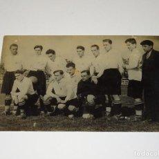 Coleccionismo deportivo: POSTAL FOTOGRAFICA ORIGINAL DEL R UNIÓN DE IRÚN - ZARAGOZA 10 ABRIL 1927 IRÚN 2 - BILBAO 1. Lote 269245948