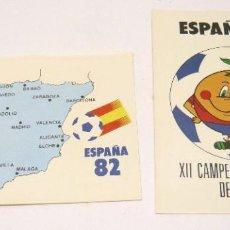 Coleccionismo deportivo: DOS POSTALES PAGSA MUNDIAL FUTBOL ESPAÑA 1982 NARANJITO. Lote 274434653