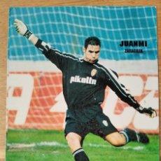 Colecionismo desportivo: REAL ZARAGOZA - JUANMI - KELME. Lote 276003703