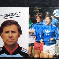 Coleccionismo deportivo: POSTAL * MICHEL HIDALGO * DEDICATORIA. Lote 276187458