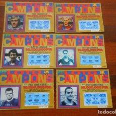 Coleccionismo deportivo: LOTE FUTBOL ORIGINAL LOT CAMPIONS BARCELONA BARSA NEESKENS KOEMAN URRUTI KUBALA ALCANTARA SUAREZ. Lote 276553498